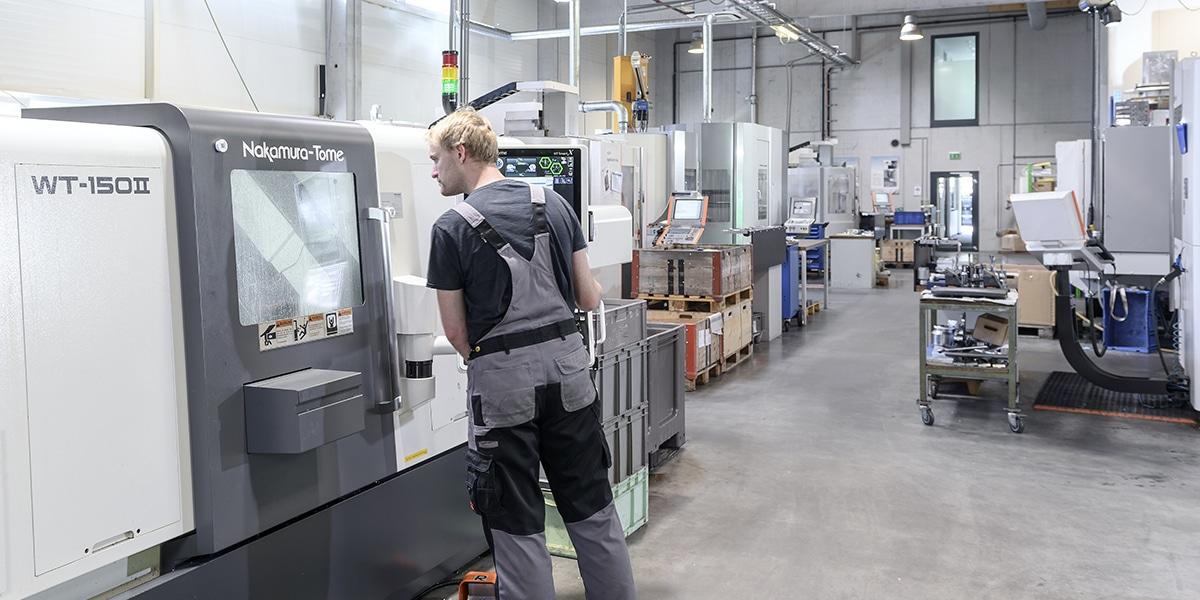 HSieben Maschinentechnik - Human Perception Automized Perfection - Kompetenzen Automatisation Drehen Präzision Qualität leistungsstarke Drehmaschinen 3D-Tastervermessung Automatisierung