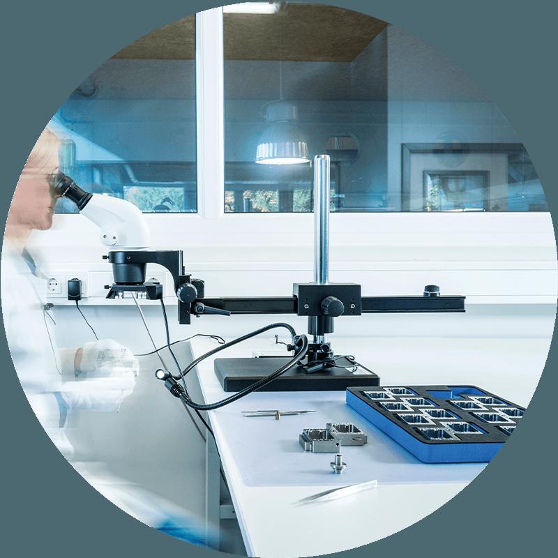 HSieben Maschinentechnik Langkampfen - Human Perception Automized Perfection - spanabhebende Bearbeitung, CNC, Fräsen, Automatisation, Aktuelles, Investitionen, Stereoinspektionsmikroskop, Leica S6E